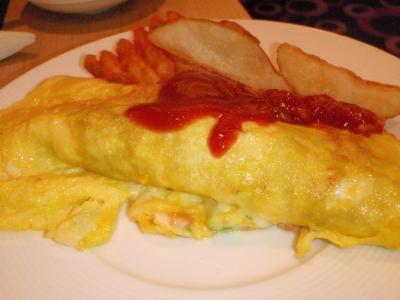 朝食その2オムレツ