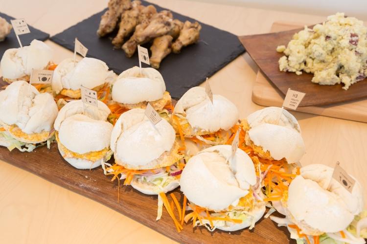 米粉 豆腐 ハンバーガー