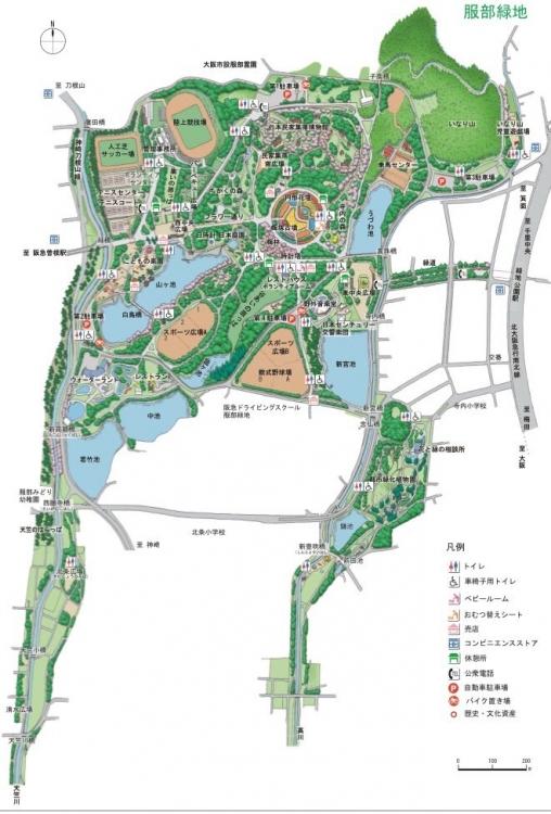 服部緑地 地図