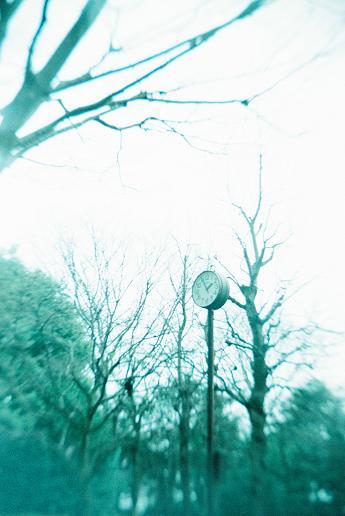 公園の時計 大人の科学二眼レフ FerraniaSolaris400