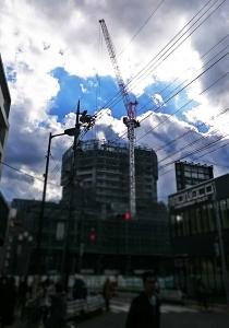 国分寺駅ビル建設中