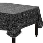 スパイダーウェブテーブルカバー Spider Web Flannel Backed Vinyl Table Cover