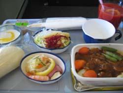 JL741機内食