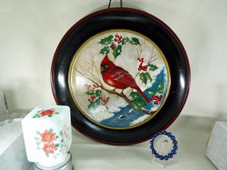 クリスマスの赤い鳥