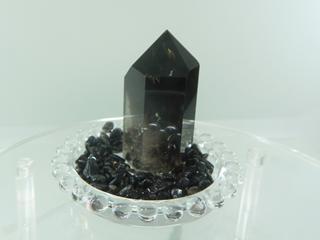 モリオン黒水晶六角柱