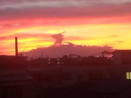 夕焼けの龍