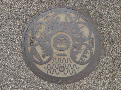 名古屋城のマンホール