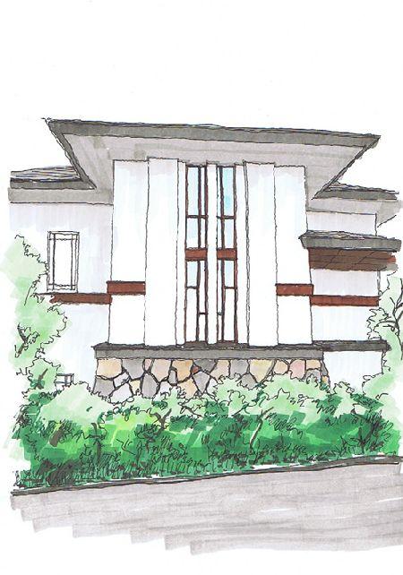 プレーリーハウスの外観
