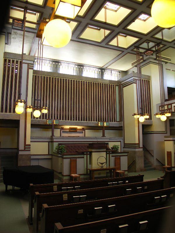 フランク・ロイド・ライト設計のユニティ教会