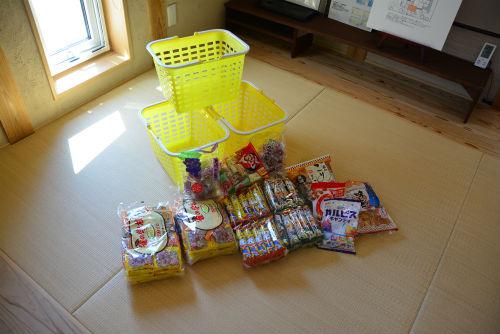 新築塾 撒き菓子