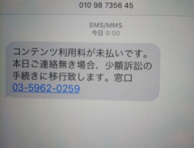 詐欺 SMS
