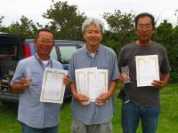 オープンクラス入賞者(左から2位の私(宮川)、優勝の中村さん、3位の小川さん)