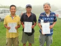 ミニクラス(左から2位の豊山選手、優勝の山本選手、3位の中村選手)