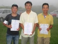 スケールクラス(左から2位寺田選手、優勝の市村選手、3位の豊山選手)
