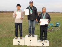 年間綜合優勝の吉田正秀選手、2位鈴木選手、3位大塚選手