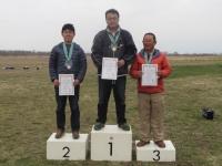 優勝の長野選手、2位鈴木選手、3位私宮川
