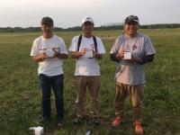 ラダークラス入賞者(優勝の大高選手(中央)、2位の吉田選手(左)、3位の小野寺選手