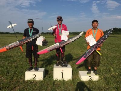 5000点満点優勝の越山選手、同点2位の金子選手、3位の佐藤友和選手