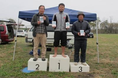 上里F3B年間総合(優勝の櫻井選手、2位の大高選手、3位の大塚選手)
