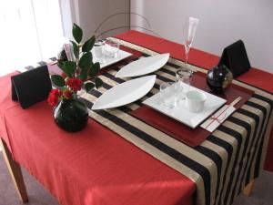 1月のテーブル