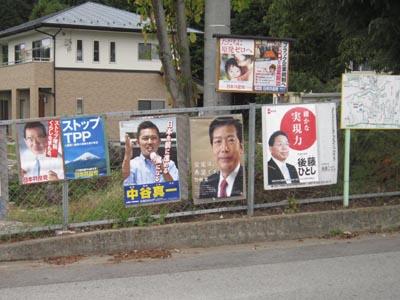 選挙の看板