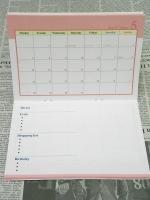 2012年COMOスケジュール帳 中面大ピンク