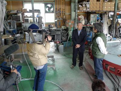 NHK取材 職人さんインタビュー