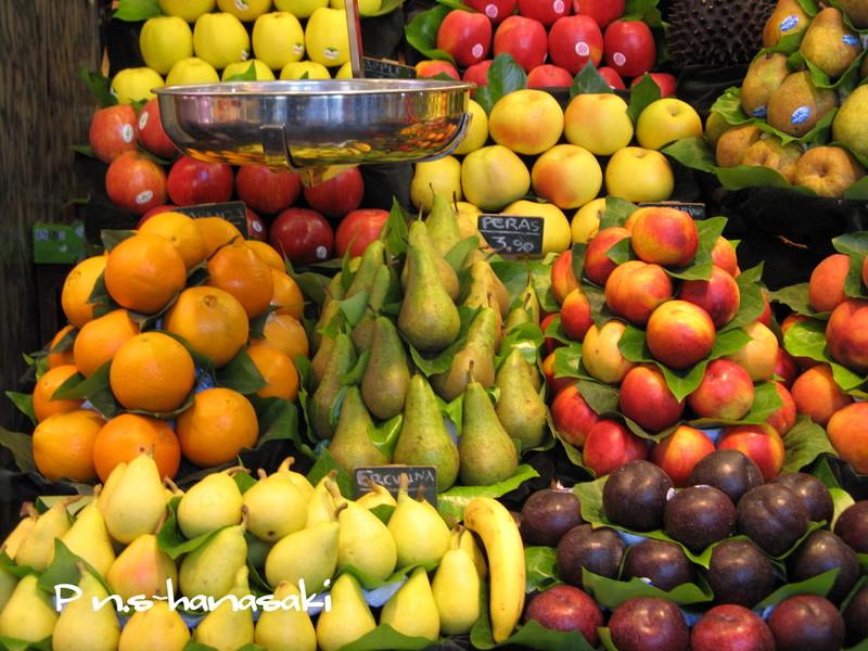 サン・ジョセップ市場 果物屋