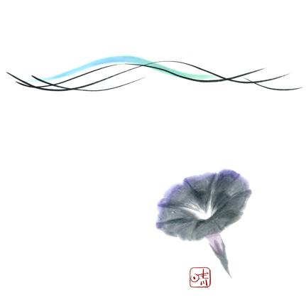 墨絵(水墨画を描く)
