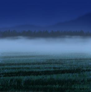 フォトショップで霧(モヤ)を描く