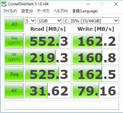 V919 Core M CrystalDiskMark