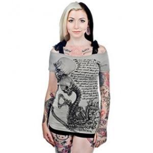 �Ѵ� �� Too-Fast-Damen-Annabel-Bow-Top-Skelett-Paar-T-Shirt-Love-is_-(L)-von-Too-Fast-Grau-Groesse-L-54303475.jpg