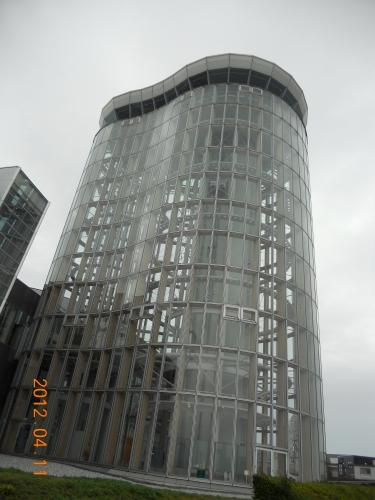 建物はの形はひょうたんかな?