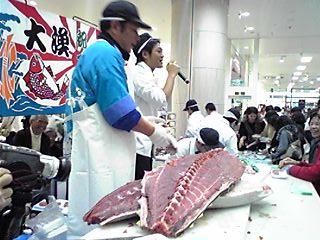 大間のマグロダイナミックな解体!!