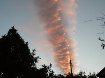 阪神震災地震雲