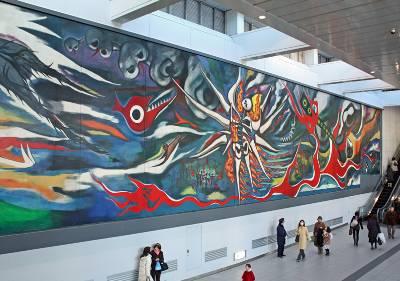 渋谷駅に新しく設置された岡本太郎の壁画
