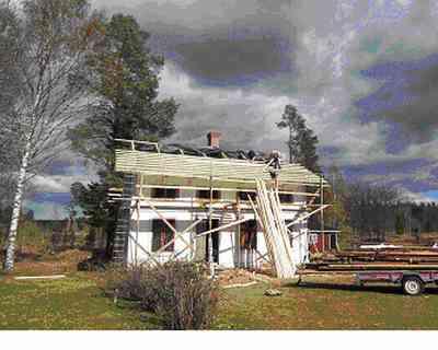 修理中の家