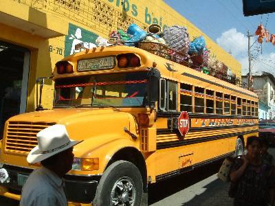 アメリカのスクールバスのお下がり