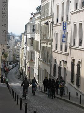 モンマルトルの街並