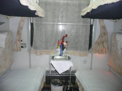 一等寝台、軟臥(ルワンウォ)のコンパートメント