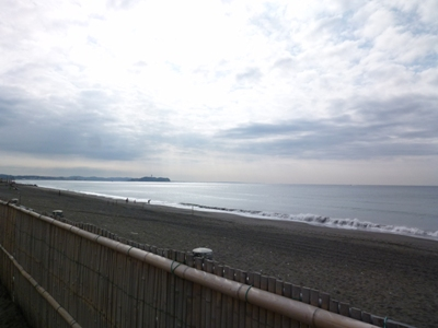 海はちょっと、あったかいでちゅ