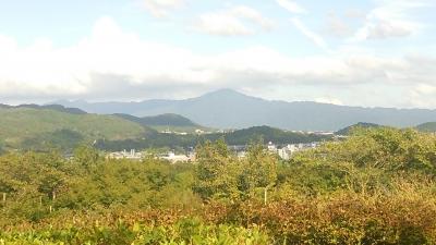 比叡山を望む