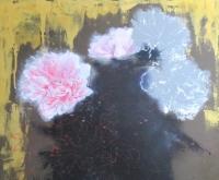 油彩画途中