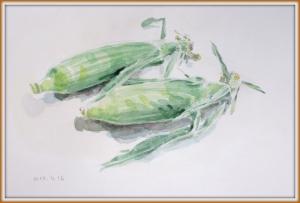 水彩トウモロコシ