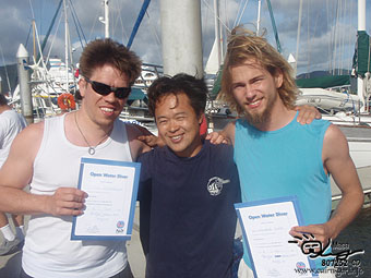 Congratulations! PADI Open water diver!