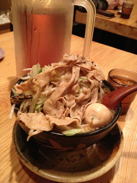 男のラーメン 武士道 大阪黒醤油ラーメン