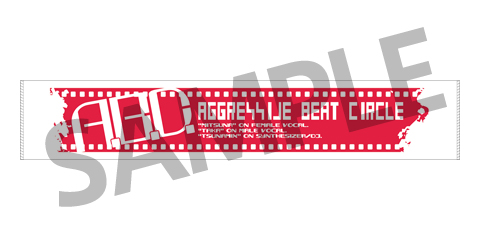 AGGRESSIVE BEAT CIRCLE オリジナル マフラータオル