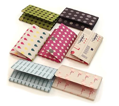 西陣織小物・ヒナタさんのカードケース、大量入荷。