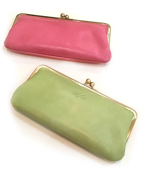 人気の馬革カラー財布、がま口長財布タイプが入荷しました。