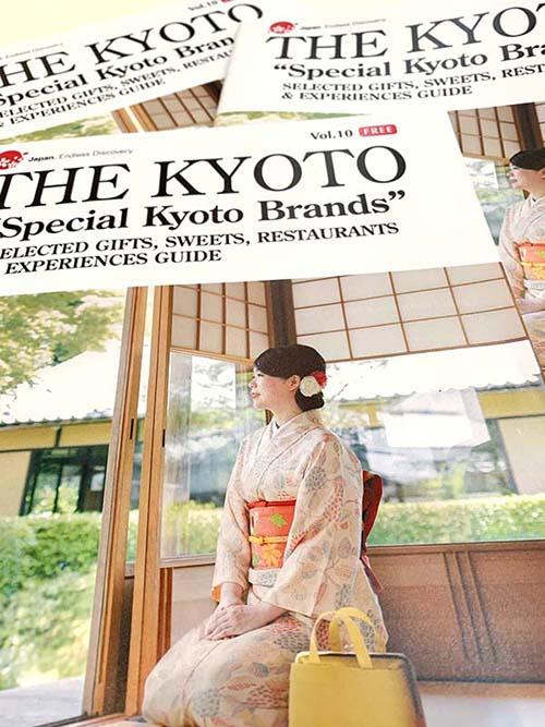 海外のお客様向け情報誌「THE KYOTO」に掲載して頂きました。